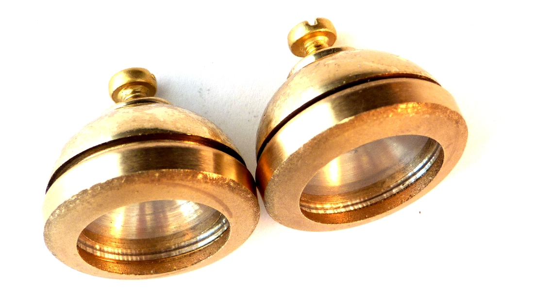 MAMOD BRASS HEADLIGHTS FOR ROADSTER (A PAIR) - 1920s STYLE