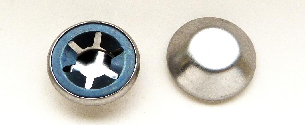 MAMOD CHROME SMALL HUB CAPS x 2 - TE1A/ SR1A/ SA1/ SW1A