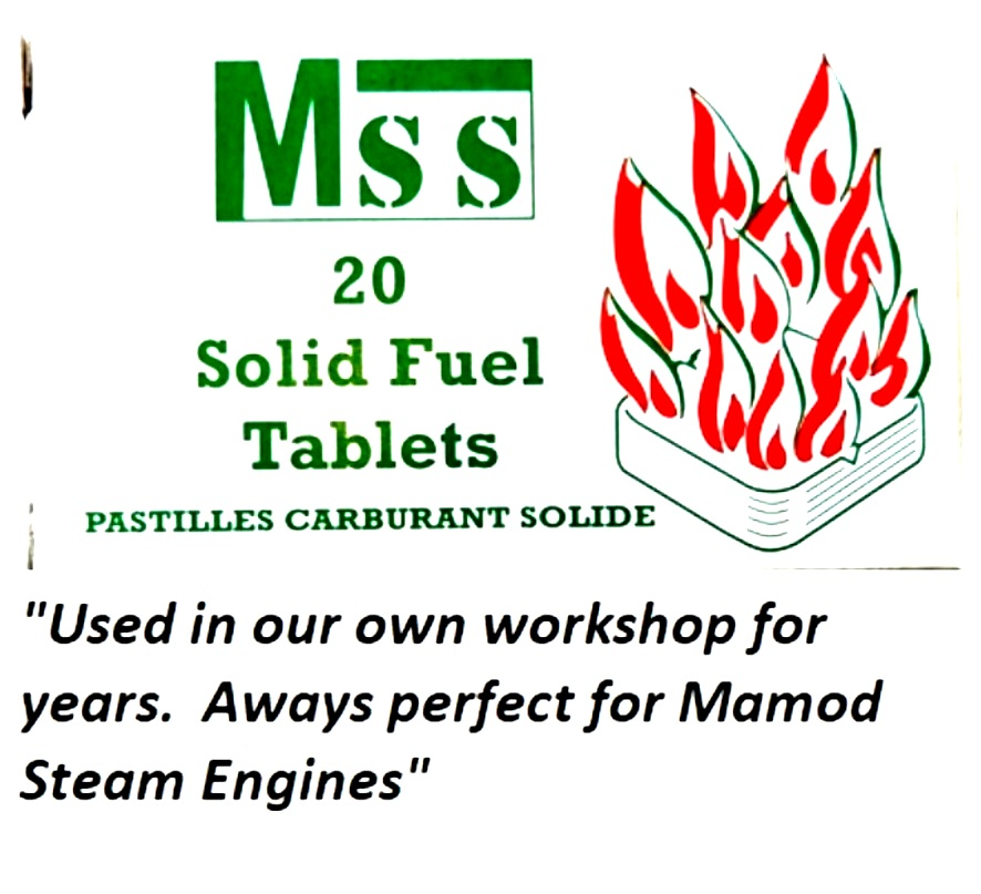 SOLID FUEL TABLETS for MAMOD STEAM ENGINES  (TWO MSS PACKS)