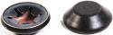 MAMOD BLACK SMALL HUB CAPS x 2