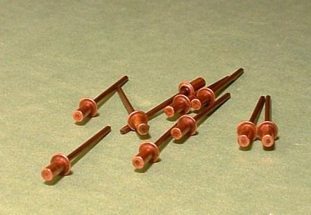 MAMOD ENGINE RIVETS - 3MM CLOSED END COPPER - (FIFTY)